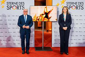 V. l.: Bundespräsident Frank-Walter Steinmeier und Marija Kolak (Volksbank Präsidentin BVR)